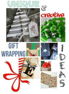 Unique & Creative Gift Wrapping Ideas #christmas #wrapping #gifts