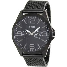 Guess Men's U0180G2 Black Stainless-Steel Quartz Watch with Black Dial