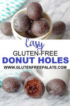 Gluten-Free Chocolate Donut Holes that are rich chocolaty and perfectly tender. You may never go back to store bought gluten-free donut holes again. The post Gluten-Free Donut Holes appeared first on Dessert Park. Gluten Free Donuts, Gluten Free Sweets, Gluten Free Diet, Gluten Free Baking, Dairy Free, Oreo Dessert, Dessert Sans Gluten, Dessert Blog, Chocolate Donuts
