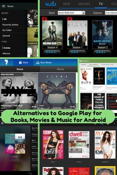 Alternatives to Google Play for Books, Movies, And Music for #Android
