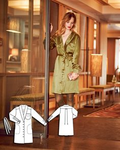 Shirt Dress 10/2015 #106B http://www.burdastyle.com/pattern_store/patterns/shirt-dress-102015?utm_source=burdastyle.com&utm_medium=referral&utm_campaign=bs-tta-bl-150928-GreenSophistication106B