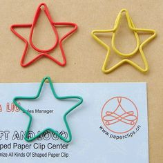 Star shaped Shaped Paper Clip