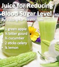 Reducing blood sugar - juice recipe