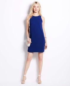 Blue Shirttail Hem Sleeveless Dress #poachit