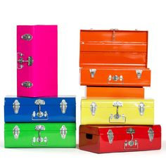 Fab.com | Metal Storage Suitcase Yellow