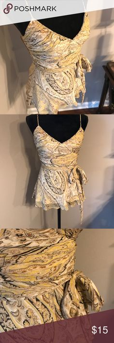 Striking BCBG Blouse!! Love this Blouse from BCBG!! Great for dressing up or dressing down. Sweet paisley print and side zipper. BCBG Tops Blouses