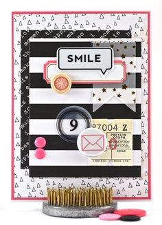This girls birthday card celebrates the last year of single digit birthdays — nine!  Decorated in a striking pink and black color scheme, this fun and trendy 9th birthday card is perfect for celebrating a tween girl in style. It features a variety of fun ideas and a variety of dimensional embellishments. #thecardkiosk
