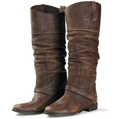 brown leather boots...Love these!
