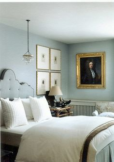 The Master bedroom paint colour is tablecloth by Paint & Paper Library.   Moore Design