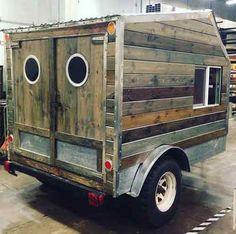 Daniel's Reclaimed DIY Zen Den Micro Camper - I like the Rear Entrance!