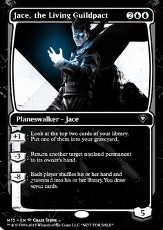 M15 Style Jace. Original Alter by Collin Satterlee. Inspired by the SDCC blacked out Planeswalkers. M15 Jace, No flavor text.