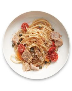 Spaghetti and meatballs who? Our lighter, brighter pasta stars -- you guessed it -- tuna. Plus it's super fast to make.