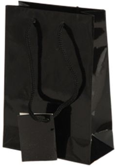 small gift bags-black Case of 132