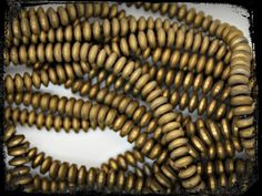 """Electroplate Hematite Frosted Beads Strands, Antique Bronze Plated 6mm x 2.5mm   89pcs/strand, 9.8"""".A010"""