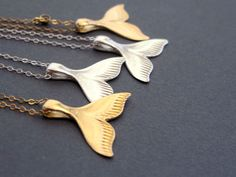 whale tail necklace by NikaNora on Etsy