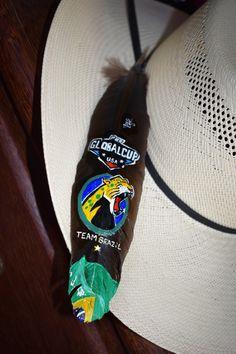 65a5ba033d11b Global cup pbr Brazil team Brazil pena decorada pintada rodeio em touro