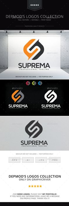 Suprema Logo — Vector EPS #corporative #s letter • Available here → https://graphicriver.net/item/suprema-logo-/9432956?ref=pxcr