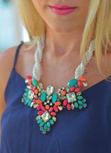 Colliers strass XXL · Tendances bijoux 2015