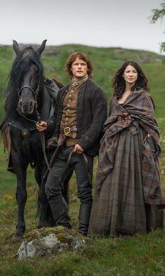 Foto tratta dalla serie tv di Outlander, prodotta da STARZ e basata sulla saga originale di Diana Gabaldon.