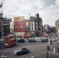 A view over Piccadilly Circus, London, circa 1963.