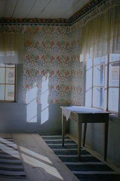 Swedish Wallpaper, Wall Wallpaper, Scandinavian Furniture, Scandinavian Home, Decoration, Art Decor, Home Decor, Swedish Cottage, Sweden House