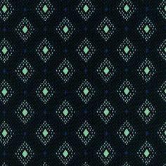 Cotton  Steel Lucky Strikes  nine pin lawn black  par MissMatatabi