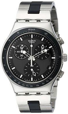 7c9bbba06db Swatch Men s YCS410GX Windfall Chronograph Silver-Tone Bracelet Watch Brand  Name Watches