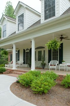 Front porch landscaping on pinterest landscaping front for Waddell custom homes