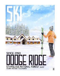 Ski Dodge Ridge by DaveChristianArt on Etsy