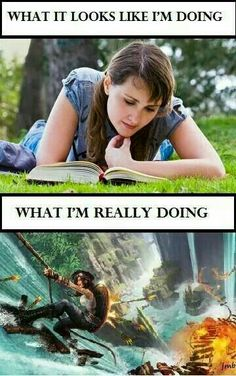 Every time I read Percy Jackson I Love Books, Good Books, Books To Read, My Books, Reading Books, Girl Reading, Book Nerd Problems, Bookworm Problems, Book Memes