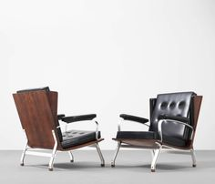Unusual Set of Two Rosewood Lounge Chairs by Ico Parisi for Cassina 4