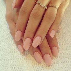 Blush wedding ideas, wedding nails, classic nail design, matte pink, matte colors
