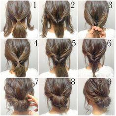 Hasil gambar untuk updo diy for medium length hair