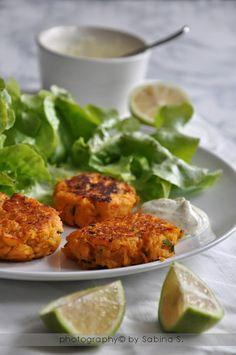 Polpettine di salmone e patate dolci