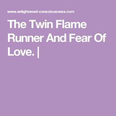 I just realized I was the runner!... Being the spiritual twin... I assumed it was him. been working on surrender for a while, and feeling this magnetized state strongly now.
