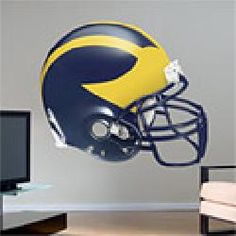 Fathead Michigan Wolverines Helmet Wall Graphic