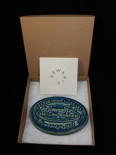 """Pewabic Pottery Square Tile 6"""" Celebrating Henry Ford Health System 100 Years"""