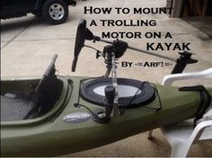 Mount a trolling motor on a KAYAK - YouTube