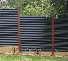 fences made with sheet metal | ... inspired fence made of corrugated sheet metal and galvanized conduit