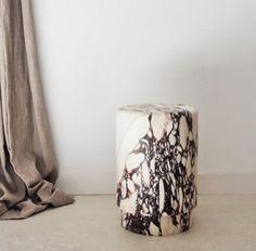 Marble stool. Michael Verheyden