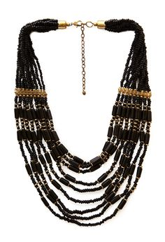 Eclectic Layered Bead Necklace | FOREVER 21 - 1000125312