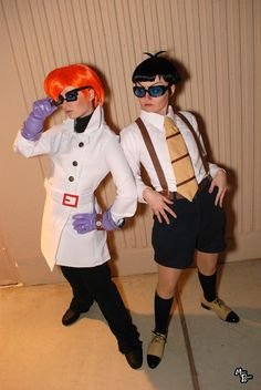 Dexter and Mandark, cosplayed by Hopie-chan and xHee-Heex    Read More: http://www.comicsalliance.com/2011/08/22/best-cosplay-ever-this-week-08-22-11/#ixzz1a2yLaVoc