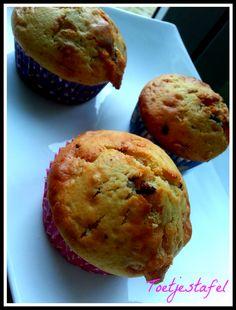 muffins met chocolade en kokos