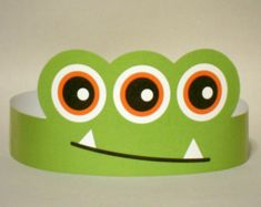Monster Paper Crown Printable by PutACrownOnIt on Etsy , [post_tags Monster 1st Birthdays, Monster Birthday Parties, Monster Party, Crown Printable, Activities For Kids, Crafts For Kids, Festa Toy Story, Paper Crowns, Hello Kitty Birthday