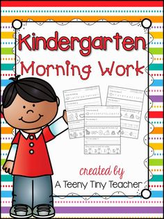 A Teeny Tiny Teacher: Kindergarten Morning Work