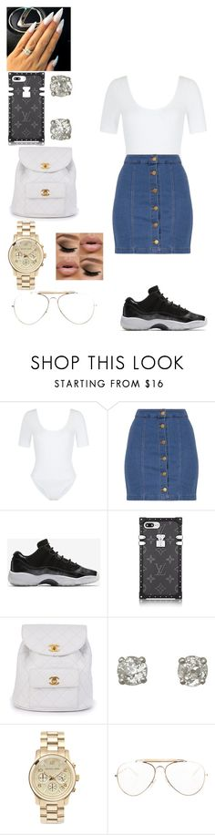 """""""Day out"""" by diamondbeautiful ❤ liked on Polyvore featuring New Look, NIKE, Chanel, Michael Kors and CÉLINE"""