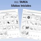 Tarea: Sílabas Iniciales (104 pages)Homework Book: Initial SyllablesThe student writes in the initial syllable that begins with the picture.T...