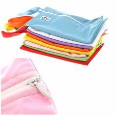 Waterproof Zipper Baby Wet Dry Cloth Diaper Nappy Bag Washable Reusable Case | eBay