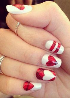 Valentine's stylish teen age nails arts
