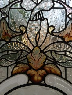 Stained glass & sandblasted etched glass details realized by France Vitrail International Paris